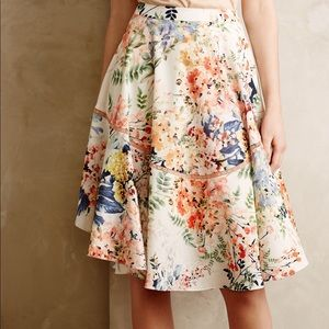 Anthropologie Jardin Skirt